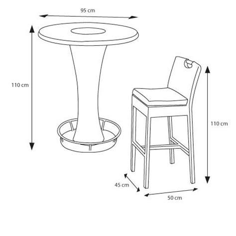 hauteur table haute cuisine table haute hauteur