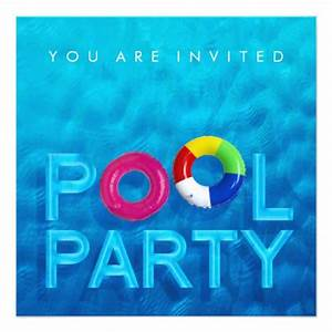 Most popular pool party invitations custominvitations4ucom for Swimming pool invitations templates