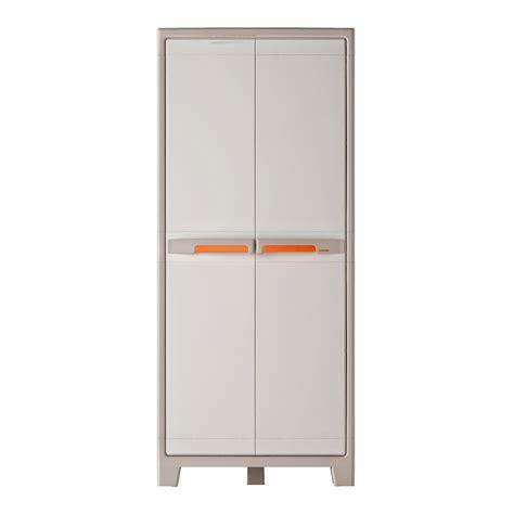 pied meuble cuisine ikea armoire haute résine 4 tablettes spaceo premium l 80 x h