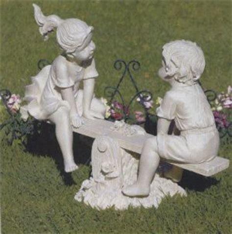 boy  girl lawn statues lawn ornament solid polyresin