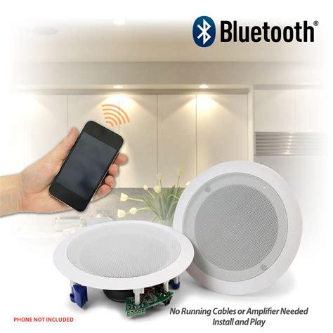 flush ceiling speakers  wireless bluetooth audio