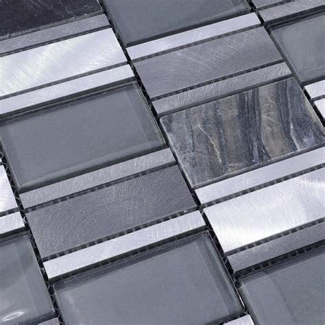 stainless steel tile metal blend brushed stainless steel marble floor