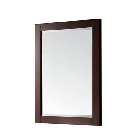 Menards Framed Bathroom Mirrors by Azzuri Soho 24 Quot Mirror In Walnut Finish At Menards 174