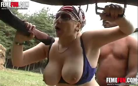 Busty Woman Having Sex With A Horse On A Lawn