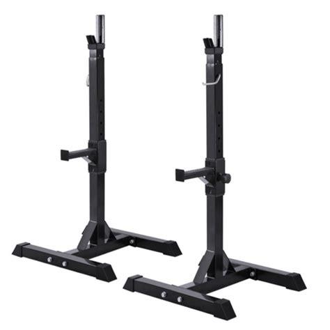 adjustable standard solid steel squat stands gym portable barbell racks exercise rack  home