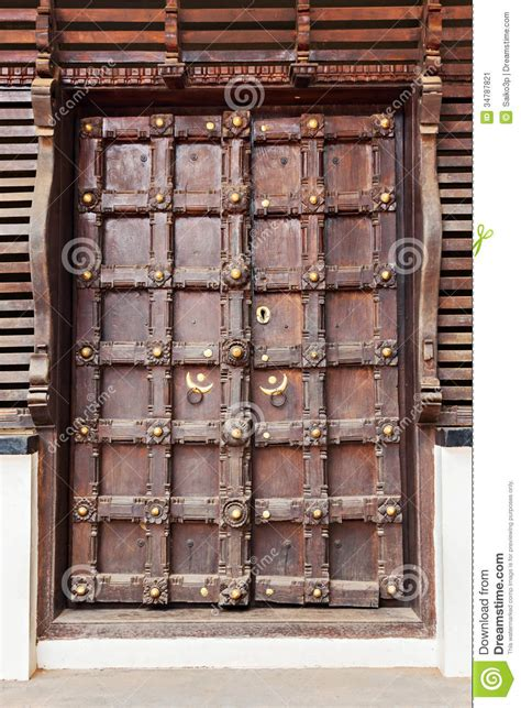 ornate door stock image image  indian asia decoration