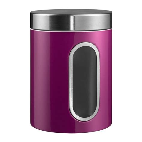 kitchen storage canister buy wesco kitchen storage canister with window purple