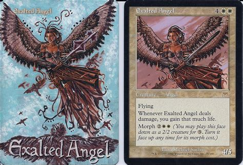 exalted angel mtg alter by theabomb99 on deviantart