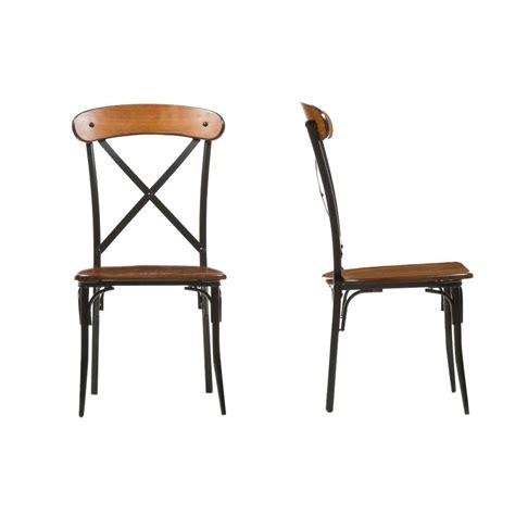 baxton studio broxburn light brown wood and metal dining
