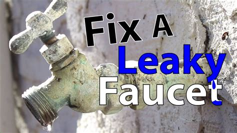 fix  leaky faucet youtube