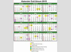 Kalendar Cuti Umum Dan Cuti Sekolah 2015 Malaysia