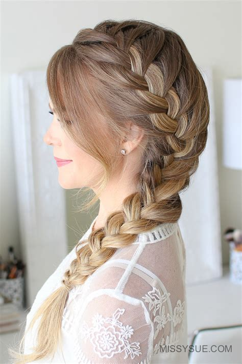 french side braid hairstyles side french braid missy sue