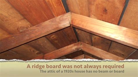 ridge beam required   roof framed  rafters