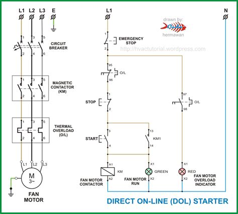 wiring diagram for motor starter electrical schematic