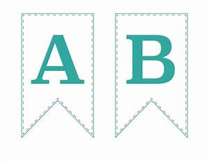 free printable bunting banner just a girl and her blog With print letters for banner