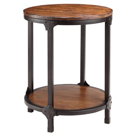 round metal end table end tables designs stein world kirstin wood and round