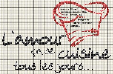 grille de cuisine grille gratuite point de croix l 39 amour ça se cuisine