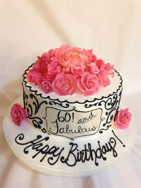 You can snack to your heart's content and still have room for the birthday cake. 60th birthday cake (3175) | 65 birthday cake, 60th birthday cakes, Birthday cakes for women