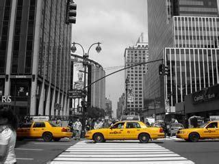 Bilder Für Leinwand by Schwarz Weiss Foto Mit Farbeffekt New York Gedruckt Auf
