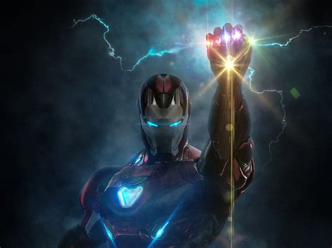 wallpaper iron man infinity gauntlet hd creative
