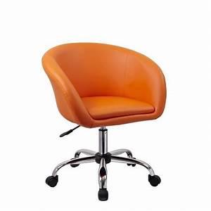 Fauteuil Roulette Tabouret Chaise De Bureau Orange
