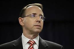 Rod Rosenstein's final insult to Congress: Farewell time for reporters but not testimony…