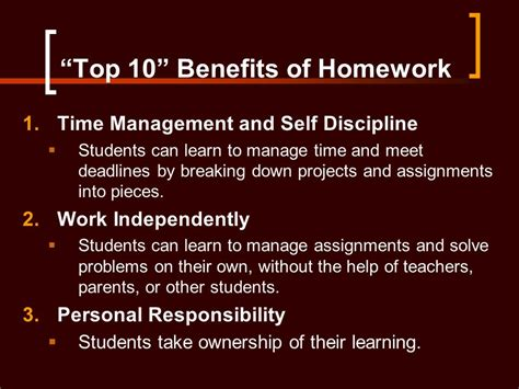 The Advantages Of Homework by Helping Your Child With Math Homework Ppt