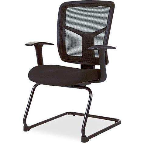 lorell ergomesh mesh fabric guest chair black