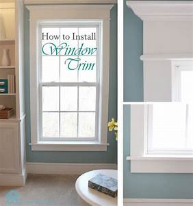 How to install window trim pretty handy girl for How to replace a bathroom window