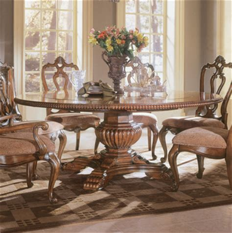 villa cortina  pedestal table dining room set