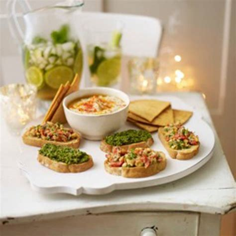 easy canape recipes uk easy crostini canapés and home