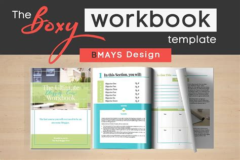 workbook template boxy workbook layout template presentation templates creative market