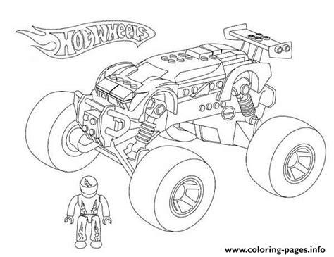 Kleurplaat Hotwheel by Wheels Truck Coloring Pages Printable
