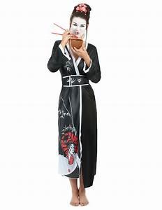 Geisha Kostüm Kinder : geisha kost m schwarz rot g nstige faschings kost me bei karneval megastore ~ Frokenaadalensverden.com Haus und Dekorationen