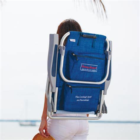 tommy bahama backpack folding beach chair  blue costco uk