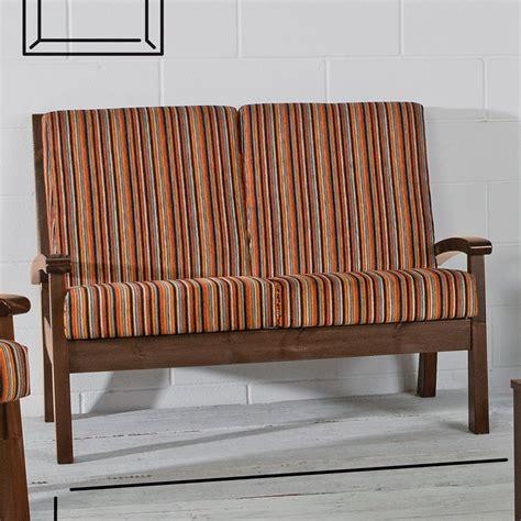 canapé rustique lar7 divano canapé rustique en bois avec coussins