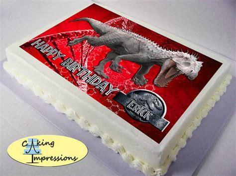 jurassic world edible image cake topper