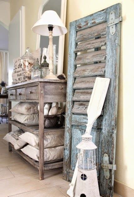 Kitchen Island Booth Ideas by Charming Coastal Interior Decorating With Shutters
