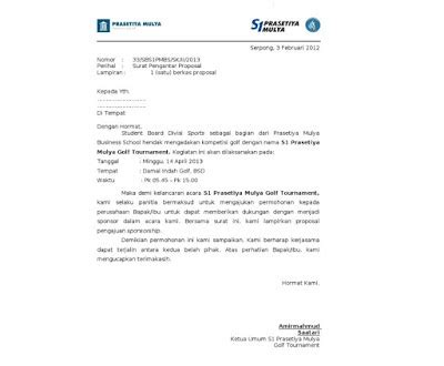 Surat Permohonan Sponsor by Contoh Surat Pengantar Sponsorship Yang Baik Dan Benar