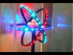 3d Atom Model Glowing With LED Awesome