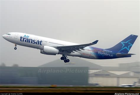 c gtsj air transat airbus a330 200 at manchester photo
