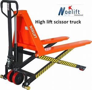 China High Lift Scissor Pallet Truck Hydraulic Hand Pallet