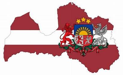 Flag Latvia Map Arms Coat Stroke Clip