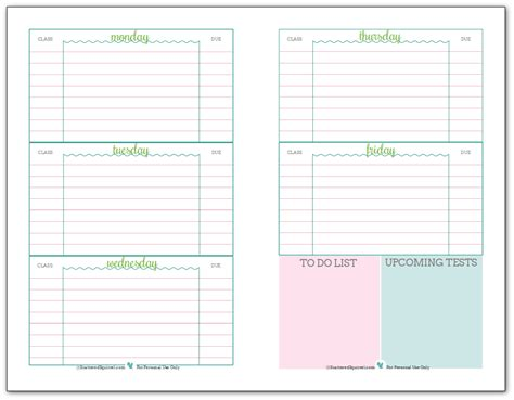 planners for college students getting ready for back to school student planner printables