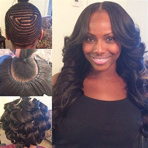 part hair style middle part with my signature pin curls hairbyme hair 2878