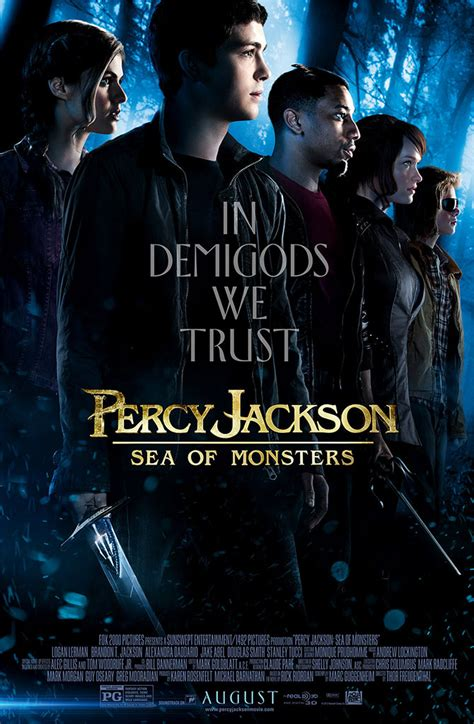 percy jackson monsters sea movie poster posters trailer