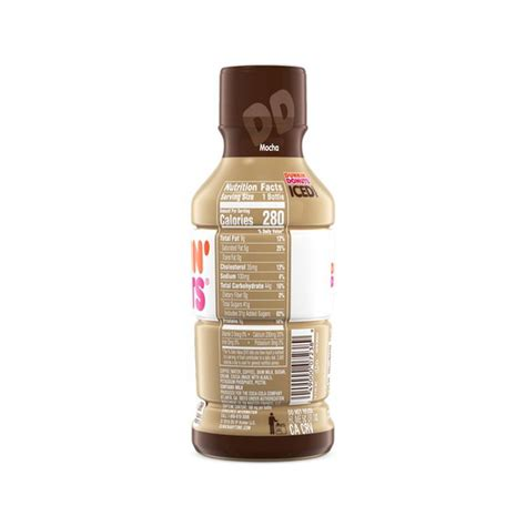 The highest caffeine per dollar drink at dunkin' donuts is the freshly brewed coffee, extra large. Dunkin' Donuts Mocha Iced Coffee Bottle (13.7 oz) from Sabor Tropical - Instacart