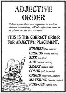 Order Of Adjectives Worksheet Adjective Order Free Worksheets