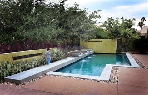 modern pool built  arizona landscaping network
