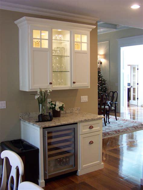 kitchen design ideas  beverage station   wine cooler   tall cabinet